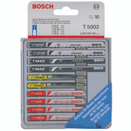 Bosch T5002 10 Piece T Shank Bi-Metal Jigsaw Blade Assortment