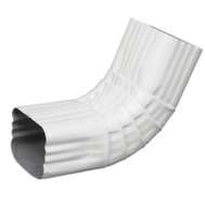 Amerimax 47264 White Aluminum Front Elbow 3 By 4 Inch