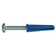Hillman 41406 14 16 By 1 3/8 Inch Blue Plastic Anchor With Screw