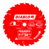 Freud D0724A Diablo 7-1/4 Inch 24 Tooth Saw Blade