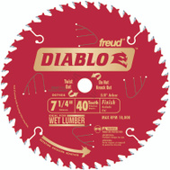 Freud D0740A Diablo 7-1/4 Inch 40 Tooth Saw Blade