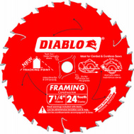 Freud D0724X 7-1/4 Inch 24 Tooth Diablo Saw Blade