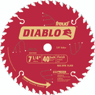 Freud D0740X Diablo 8-1/4 Inch 40 Tooth Saw Blade