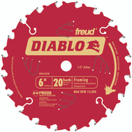 Freud D0620X Diablo 6 Inch 20 Tooth Framing Blade