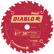 Freud D0624X Diablo 6-1/2 Inch 24 Tooth Framing Blade