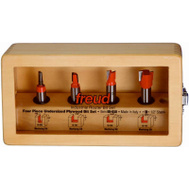 Freud 89-650 4 Piece Router Bit Plywood Set
