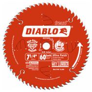 Freud D0760A Diablo 7-1/4 Inch 60 Tooth Circular Saw Finishing Blade