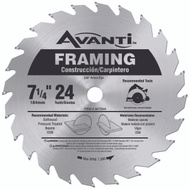 Freud A0724A Avanti 7-1/4 24 Tooth Carbide Blade Circular Saw