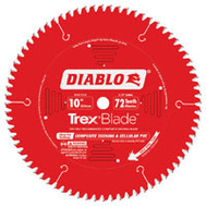 Freud D1072CD Diablo 10 Inch 72 Tooth Trex Composite Deck