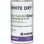 Custom Building Products WDG1-6 Tile Grout Non Sanded White 1 Pound