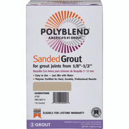Custom Building Products PBG1807-4 Polyblend Grout Sanded Sandstone 7 Pound