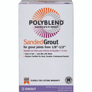 Custom Building Products PBG3817-4 Polyblend Grout Sanded Bright White 7 Pound