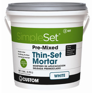 Custom Building Products STTSW1-2 Simple Set Mortar Thinset Premix Wht Gal