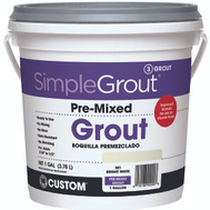 Custom Building Products PMG3811-2 Grout Premixed Bright Wht 1Gal
