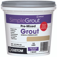 Custom Building Products PMG122QT Grout Premixed Linen 1Qt
