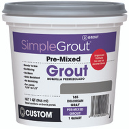 Custom Building Products PMG165QT Grout Premix Delorean Gray 1Qt