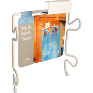 Spectrum Designs 65400 White Over The Cabinet Bag Holder