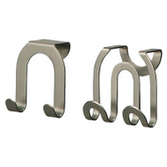 Spectrum Designs 67971 Brushed Nickel Over Cabinet Double Hooks Set Of 2