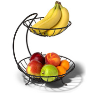 Spectrum Designs 81310 Blk 2 Tier Fruit Server