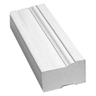Inteplast Building Products 635-0800-986 8 Foot White Pvc Brickmould
