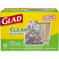 Clorox 78543 45CT13GAL CLR Kitch Bag