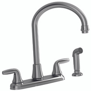 American Standard 9316451.075 Jocelyn 2 Handle Arched Kitchen Faucet With Spray Satin Nickel