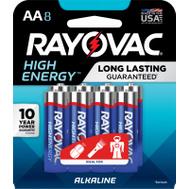 Ray O Vac 815-8K RAYO 8PK AA Alk Battery