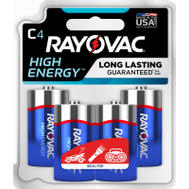 Ray O Vac 814-4TK 4 Pack C Alkaline Battery