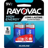 Ray O Vac A1604-2TK 2 Pack 9 Volt Alkaline Battery