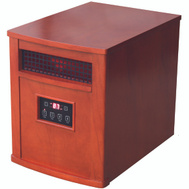 World Marketing QEH1500 Infrared Heater Chestnut Oak