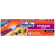 Hefty R81416 15CT GAL Slide Stor Bag
