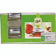 Jarden 61162 / 1440061162 Ball Collection Elite Half Pint Wide Mouth Canning Jars Set Of 4