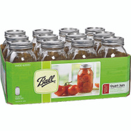 Jarden 62000 Ball Quart Regular Mouth Canning Jars With Lids Pack Of 12