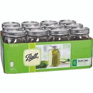 Jarden 67000 Ball Quart Wide Mouth Canning Jars With Lids Pack Of 12