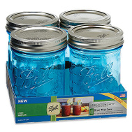 Jarden 1440069054 Ball Jar Wide Mouth Aqua Pint 4Pk 4 Pack