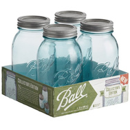 Jarden 1440069055 Ball Jar Regular Mouth Aqua Qt 4Pk 4 Pack