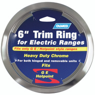 Camco 00303 Ge Hotpoint 6 Inch Electric Range Trim Ring Chrome