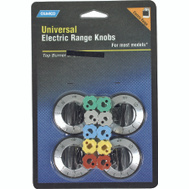 Camco 00883 Black Electric Range Burner Knobs Pack Of 4