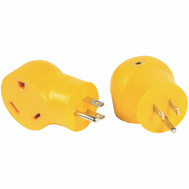 Camco 55325 Adapter 15M/30F 90Deg 125Volt
