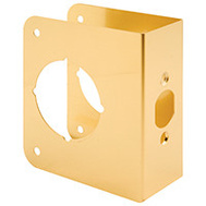 Prime Line U9558 Lock And Door Reinforcer 2-3/4 Backset 1-3/4 Thickness Brass 4-1/2 Inch High