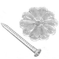 US Hardware D-140B Mobile Home Clear Rosette