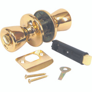 US Hardware D-600B Bed And Bath Privacy Mobile Home Lockset Bright Brass