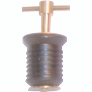 US Hardware M-008C 1 Inch Brass Handle Drain Plug