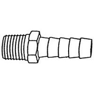 US Hardware M-325C Hose Barb Male Marne Brs 1/4In