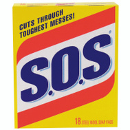S O S 98018 18 Count Sos Wool Soap Pad