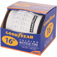Kent International 91053 Goodyear Tire Bike 16 X 2.125 White