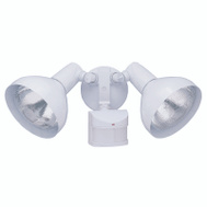 HeathCo HZ-5105-WH Heath Zenith Two Light White Adjustable Outdoor Motion Sensor Lights