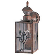 HeathCo SL-4151-BR1-D Heath Zenith Motion Activated Mission Lantern Light Rustic Brown
