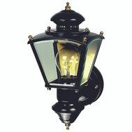HeathCo HZ-4150-BK Heath Zenith Light Motion Clear Glass 150D Black