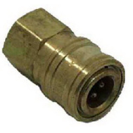 Mi-T-M AW-0017-0001 1/4 Quick Connect Socket Brass
